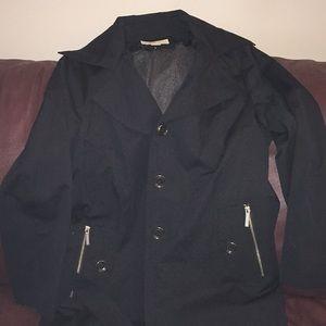 Lined rain coat with hood